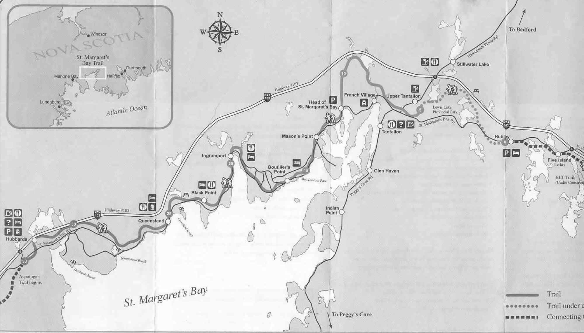 st margarets bay map